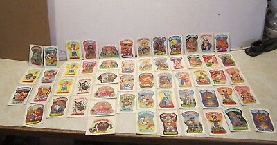 Lot of 55 Garbage Pail Kids Stickers Cards  R204