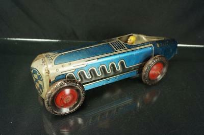 Vintage Marx Tin Wind Up Large Race Car For Parts Or Restoration Boat Tail