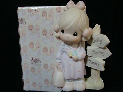 Precious Moments-Girl at Crossroads-Signs-Limited Edition 1993