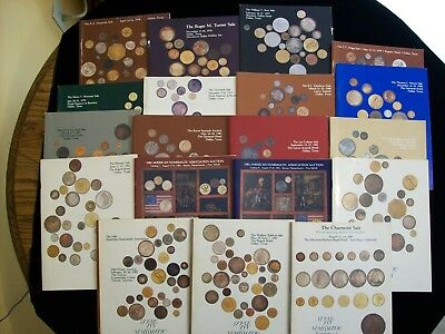 Lot of 19 Diff. Numismatic Auction Catalogs from Steve Ivy, 1978 - 1983