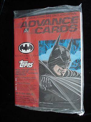 ADVANCE CARDS #42 June '92 BATMAN RETURNS To TOPPS Denny O'Neil interview