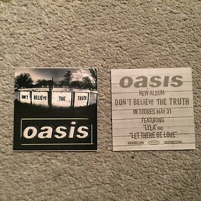 "OASIS ""Dont' Believe The Truth"" promo only 3"" x 3"" sticker RARE OOP"