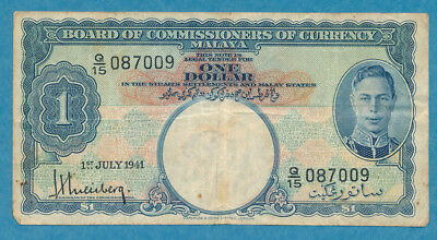 Board of Commissioners of Currency Malaya $1 1941 P-6