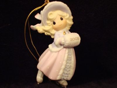 Precious Moments Ornaments-Girl Ice Skater-Dated 2002 Limited Edition