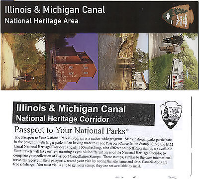 Illinois & Michigan Canal Heritage Area National Park Service 2 Diff Brochures