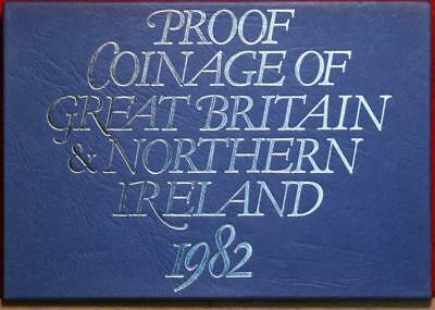Uncirculated 1982 Coinage Of Great Britain & Northern Ireland Proof Set Free S/H