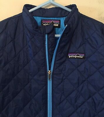 Patagonia PrimaLoft Insulated Quilted Jacket Coat  4T  Mdn Blue