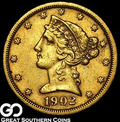 1903-S Half Eagle, $5 Gold Liberty, Early Collector Gold ** Free Shipping!