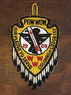 Boy Scout Order of the Arrow Colonneh Lodge 137 Pow Wow 1969 WWW OA Patch