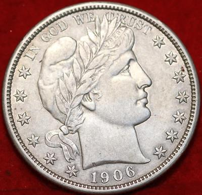 1906-D Denver Mint Silver Barber Half Dollar Free Shipping!