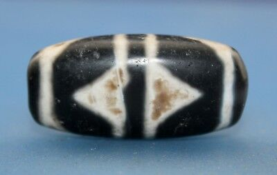 """38*18 mm Antique  Dzi  Agate  old """" Tiger tooth """" Bead from Tibet Free shipping"""