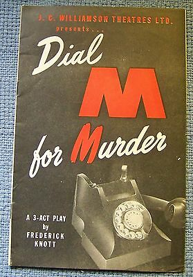 J. C. Williamson Theatres Dial M for Murder - Melbourne 1953 theatre program