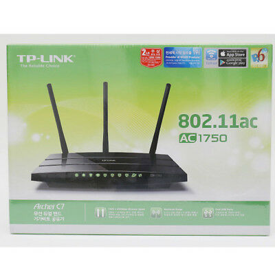 TP-LINK Archer C7 AC1750 Wireless Dual Band Gigabit Router 802.11 2.4GHz