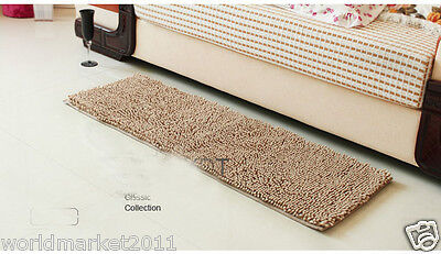 Simple Chenille Thickened Lengthen Non-Slip Bathroom Absorbent Mat Camel