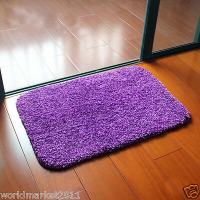 Simple Purple Microfiber Thickened Non-Slip Bathroom Absorbent Mat