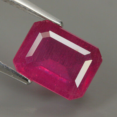 Fabulous 4.21 Ct Natural Africa Pinkish Red RUBY Octagon Gemstone @ See Video !!