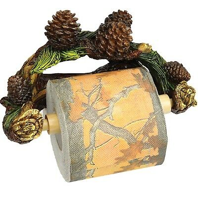 Rivers Edge Pinecone Wall Mount Toilet Paper Holder 1150