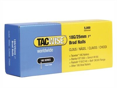 Tacwise 0396 18 Gauge Brad Nails 25mm x 5000