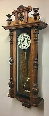 Antique Walnut Vienna Single  Weighted Clock A. Willmann & Co Freiburg