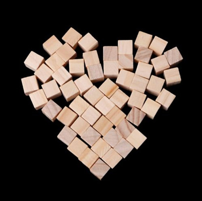 10/20/25mm Wooden Square Blocks Mini Cubes Embellishment for Kids Craft New IF