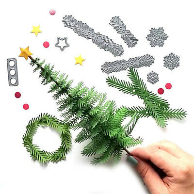 Metal Christmas Tree Wreath Cutting Dies Stencil Scrapbook Paper Craft Gifts U