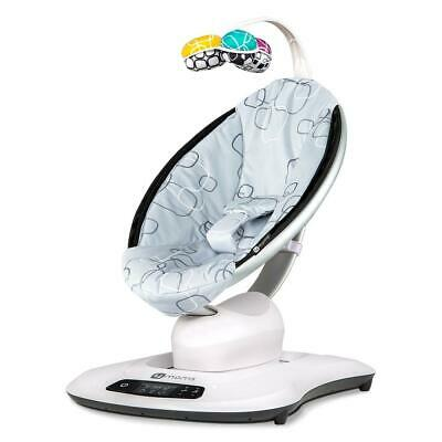 4moms MamaRoo 4.0 (Silver Plush) - Innovative Bouncing Chair