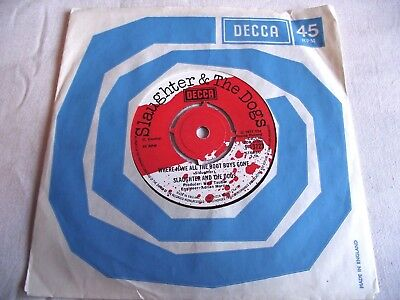 Slaughter And The Dogs ~ Where Have All The Boot Boys Gone ** 1977 Decca 45