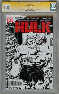 Hulk #9 Santa Sketch Variant Cgc 9.8 Signature Series Signed Stan Lee Red Marvel