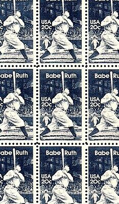 1983 - BABE RUTH - #2046 Full Mint -MNH- Sheet of 50 Postage Stamps