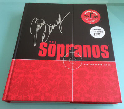 The Sopranos book James Gandolfini Vincent Curatola TV DVD series cast signed x2