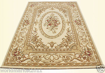A13 European Style Pure Wool Length 170CM Manual Weaving Carved Flowers Carpet