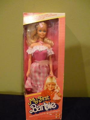 Barbie Doll My First 1875 Gingham Dress 1982 Vintage NIB Sealed Mix Match Outfit
