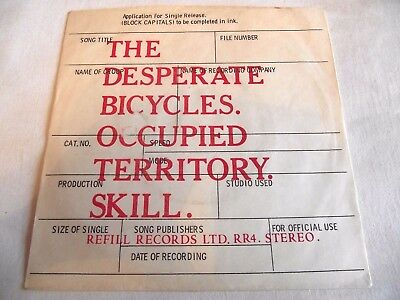THE DESPERATE BICYCLES ~ OCCUPIED TERRITORY ** 1978 REFILL 45 Rare KBD PUNK