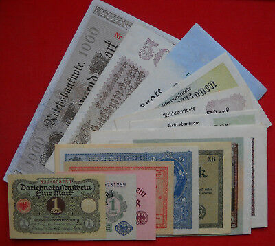 14 x Money/Banknote Collection from German Land ...all in UNC/aUNC condition !!