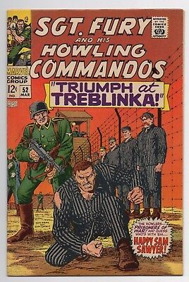 Marvel Comics Sgt. Fury and His Howling Commandos #52 Silver Age