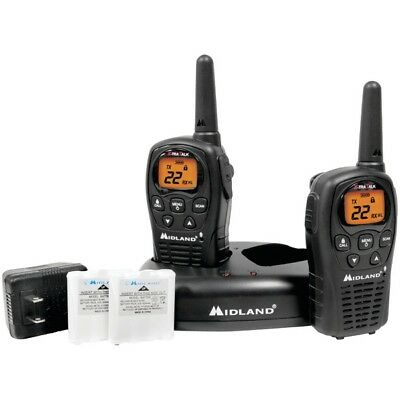 MIDLAND LXT500VP3 24-Mile GMRS Radio Pair Pack with Drop-in Charger & Recharg...
