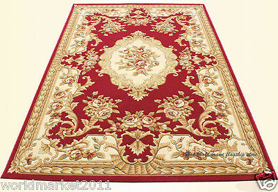 A18 European Style Pure Wool Length 170CM Manual Weaving Carved Flowers Carpet