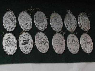 """""""wilton Armetale The Twelve Days Of Christmas Pewter Ornaments"""""""
