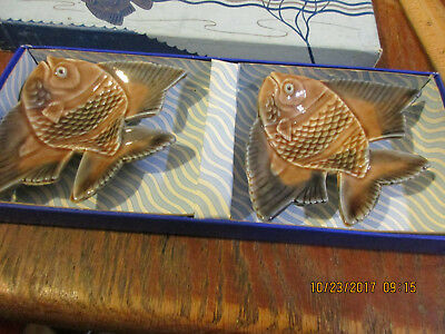 Wade Aqua-Dishes-Porcelain Fish Made In England-Org Box