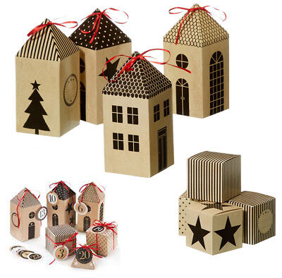 adventskalender dorf bastelset 48 tlg papier kalender. Black Bedroom Furniture Sets. Home Design Ideas