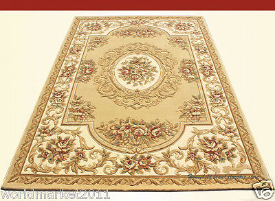 A7 European Style Pure Wool Length 170CM Manual Weaving Carved Flowers Carpet