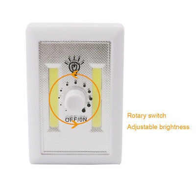 LED COB Night Light Dimmer 240 Lumen Wireless Closet Wall Room Battery Operated