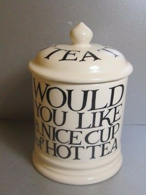 Emma Bridgewater Black Toast & Marmalade Pottery Tea Lidded Jar