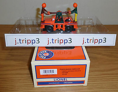 Lionel 6-81439 Halloween Pumpkin Heads Motorized Handcar O Gauge Toy Train Ghost