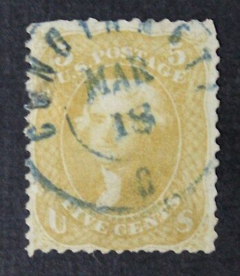 CKStamps: US Stamps Collection Scott#67 5c Jefferson Used Repaired CV$850