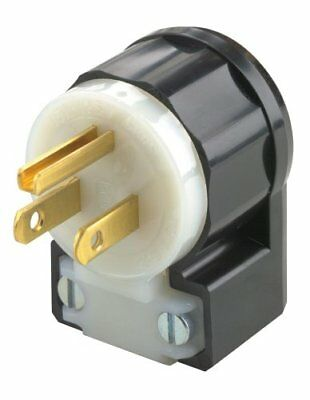 Leviton 5266-CA 15 Amp, 125 Volt, Angle Plug, Straight Blade, Industrial Grade,