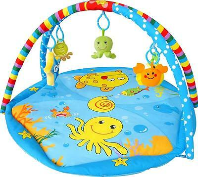 Baby Style Sea Animals Baby Play Mat Starfish Crab Octopus Flower PM-SW5012Blue