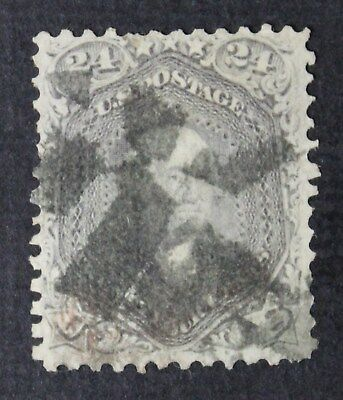 CKStamps: US Stamps Collection Scott#99 24c Washington Used CV$1600