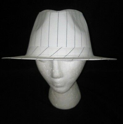 7ead7751cd4 WHITE ZOOT FEDORA Hat BLACK BAND NEW Shannon Phillips NHT19-70B ...