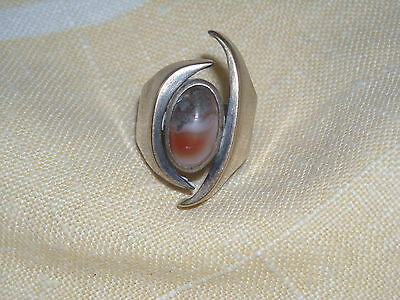 07 Gorgeous 14K Sterling with colorful Stone Ring